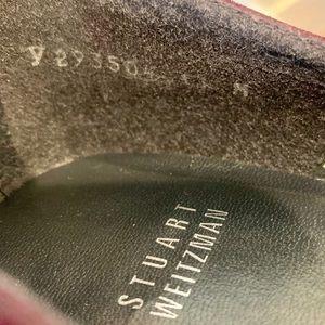 Stuart Weitzman Shoes - Stuart Weitzman Merlot Peep Toe Studded Pumps